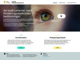 Webbutbildning i försäkringsmedicin