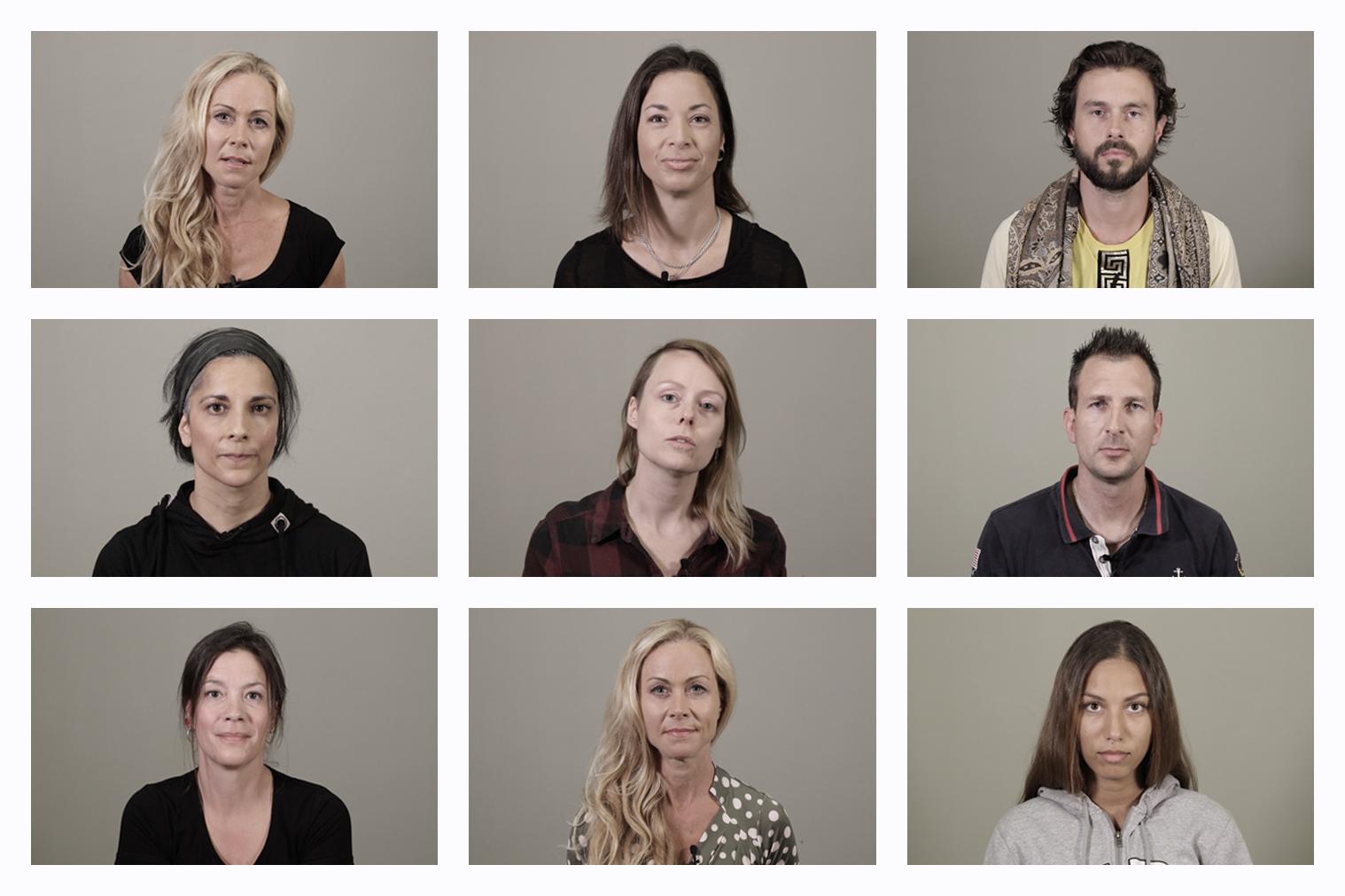 Skärmbilder från webbutbildning om incest