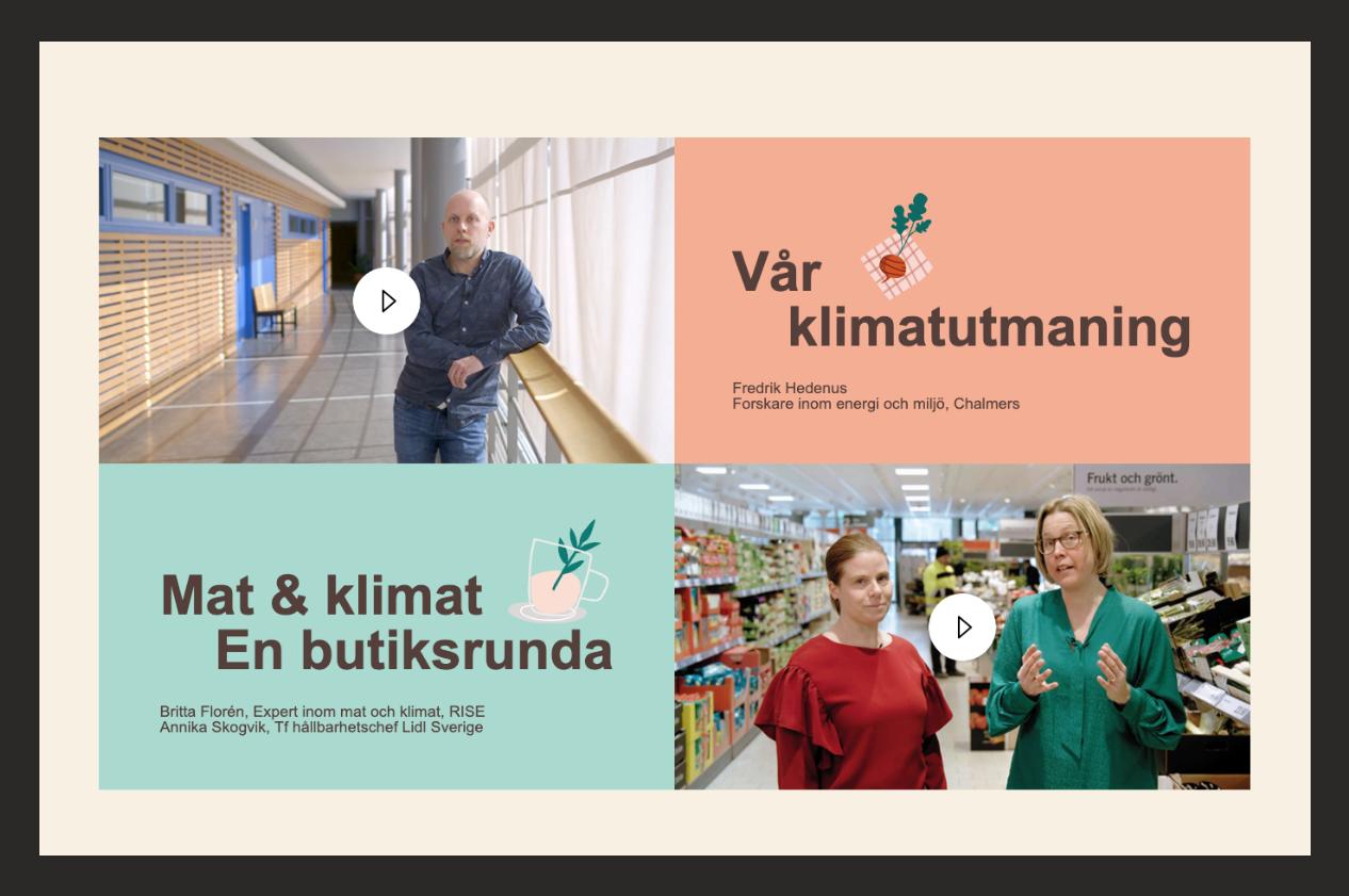 Klimatsmart mat innehåll i webbutbildningen