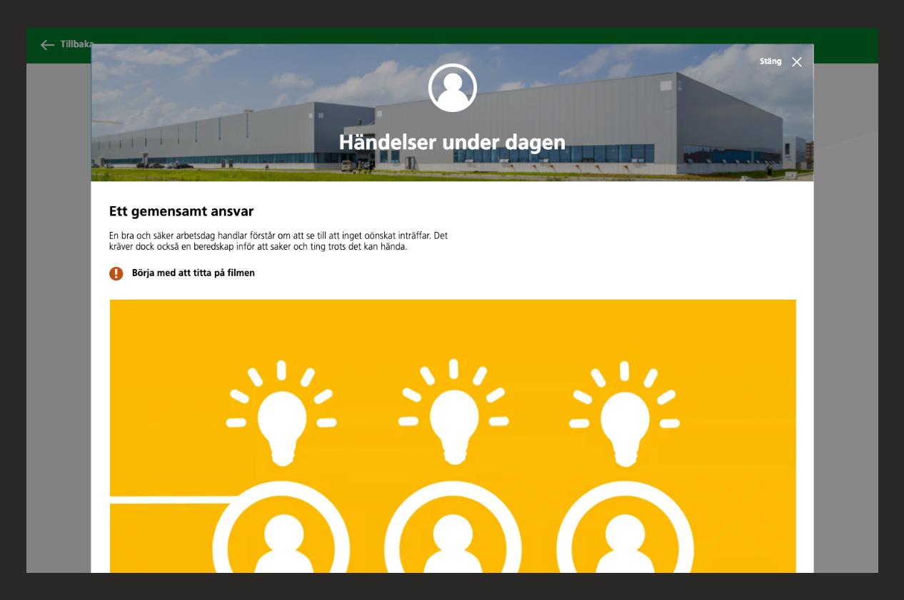 Om händelser under dagen i webbutbildningen Maskinkörkortet