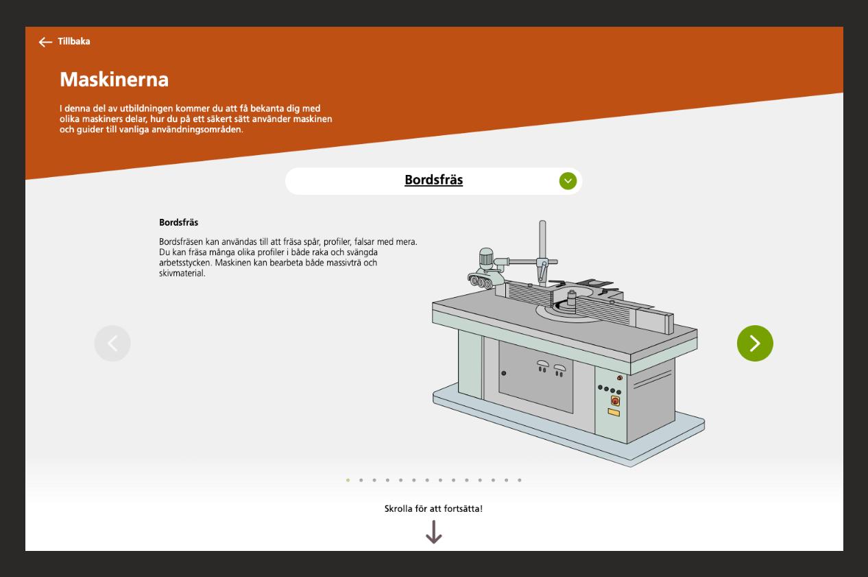 Information om maskinen Bordsfräs inledning